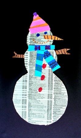 De sneeuwpop heeft het koud
