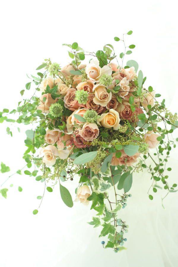 紅茶色の花のブーケ 一会風 熱海、ヴィラデルソル様への画像:一会 ウエディングの花