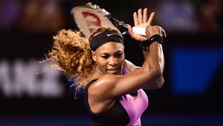Australian Open - Serena Williams during her first round victory over Ashleigh Barty