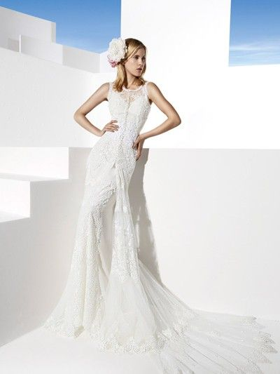 Vestidos de novia en Barcelona-boho wedding dress dresses boho chic bride bridal gowns Yolan Cris yolancris  MONZA #vestidos #novia