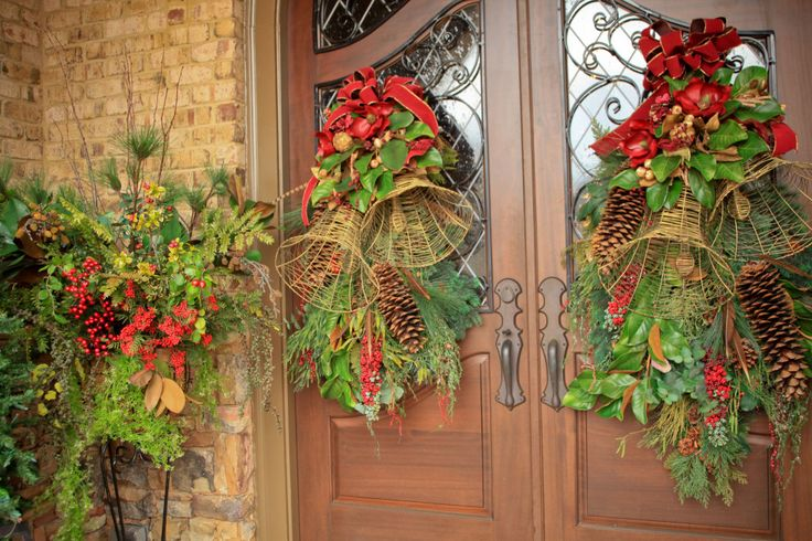 Xmas 16 Door Swags With Bells Christmas Pinterest