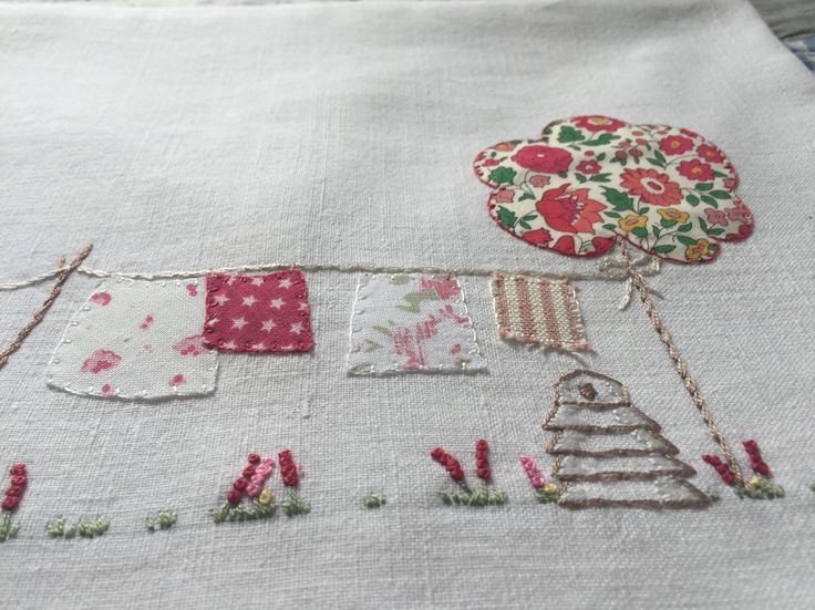 Liberty of London fabric washing line from Diana's House