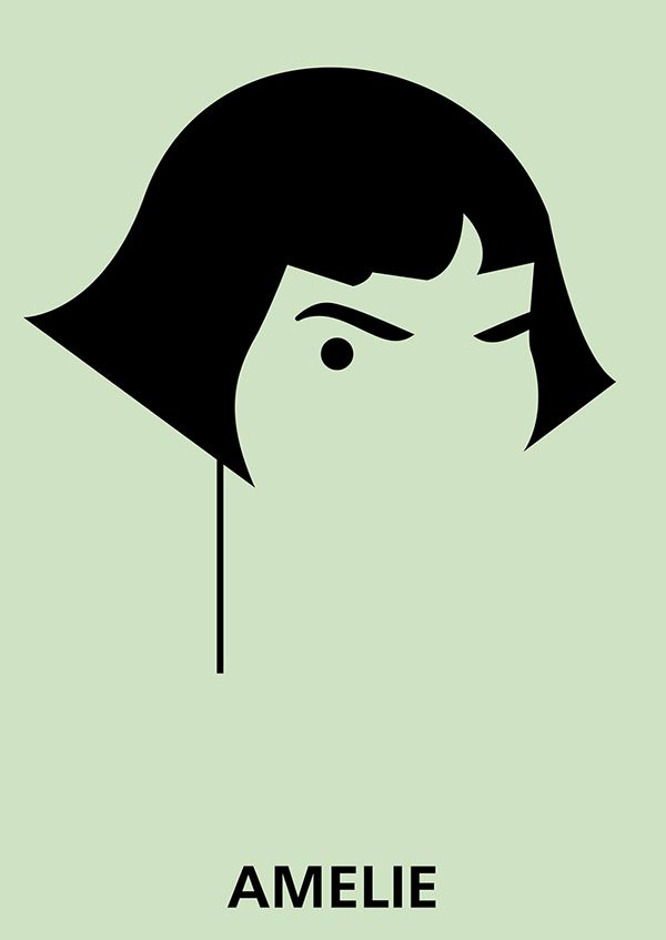 Amelie (2001) ~ Minimal Movie Poster by Ksusha Miskaryan #amusementphile
