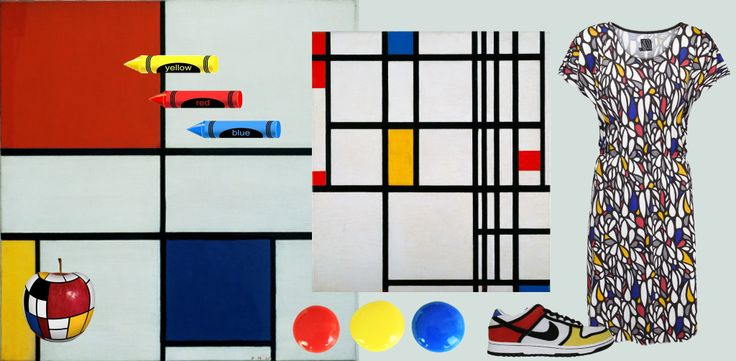 Mondrian inspired collage done by me!