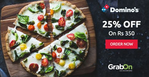 #Dominos Wah Wednesday Is HERE! Order Pizza & Get Flat 25% Off On Rs. 350. http://www.grabon.in/dominos-coupons/ #SaveOnGrabOn