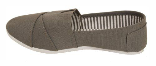Dona Michi Womens Canvas Slip on Shoes