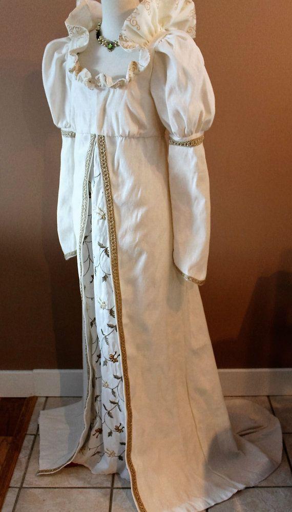 Bust 38 Ivory Regency Wedding Dress 2 piece by RecycledRockstah
