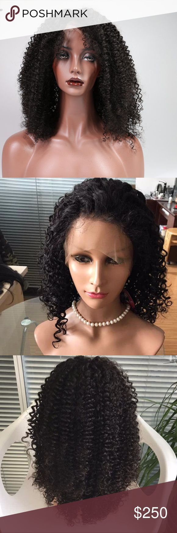 Water wave 22 '' full lace 150% density  hair wig Water wave 22 '' full lace 150% density human hair wig Natural color wig .   Can be dyed permed or restyled . Accessories Hair Accessories
