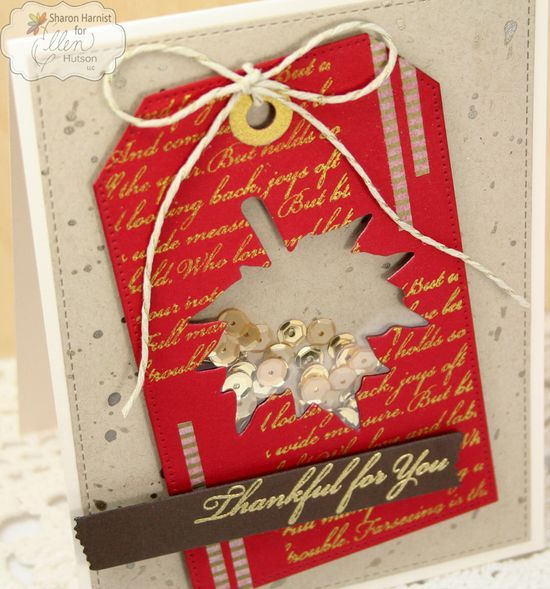 Sharon Harnist - PaperFections - Leaf Shaker Card - 9/5/14