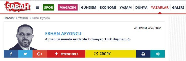 ALMANYA DOSYASI /// ERHAN AFYONCU : Alman basınında asırlardır bitmeyen Türk düşmanlığı