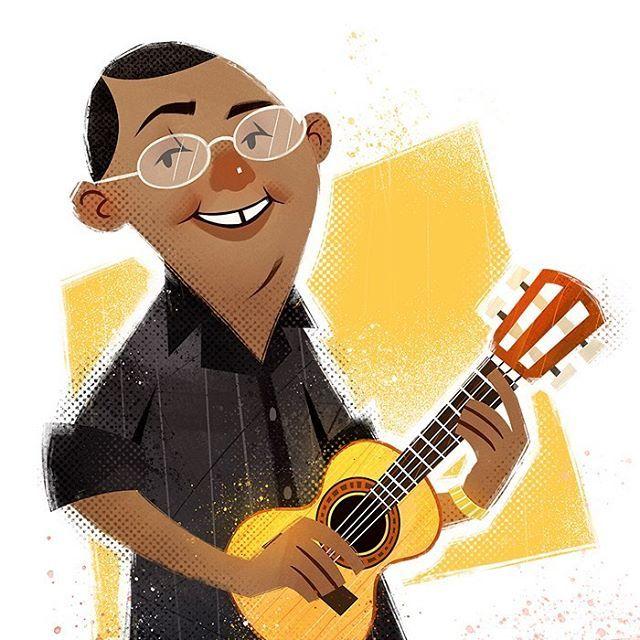 Crop do Dudu Nobre que fizemos para o @alfabetodosamba 💕O projeto inteiro tá lindão :) #ilustracao #illustration #cartoon #cartooning #artwork #art #digitalart #photoshop #alfabetodosamba #samba #musica #dudunobre