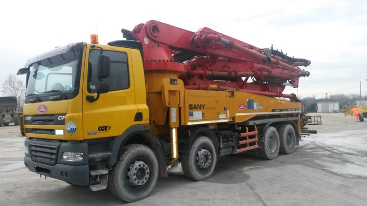 Concrete pump Sany 40 m with DAF truck year 2010 ready for sale