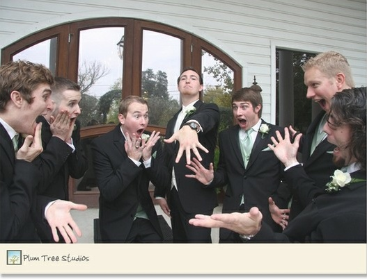 "funniest groomsmen picture ever.: ""Hey can we be like the ladies when they are…"