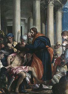 St. Barnabas - Feastday: June 11  Patron of Cyprus, Antioch, against hailstorms, invoked as peacemaker.All we know of Barnabas is to be found in the New Testament. A Jew, born in Cyprus and named Joseph, he sold his property, gave the proceeds to the Apostles, who gave him the name Barnabas, and lived in common with the earliest converts to Christianity in Jerusalem. He persuaded the community there to accept Paul as a disciple.