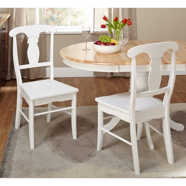 Simple Living Solid Wood Empire Dining Chairs (Set of 2) | Overstock.com Shopping - The Best Deals on Dining Chairs