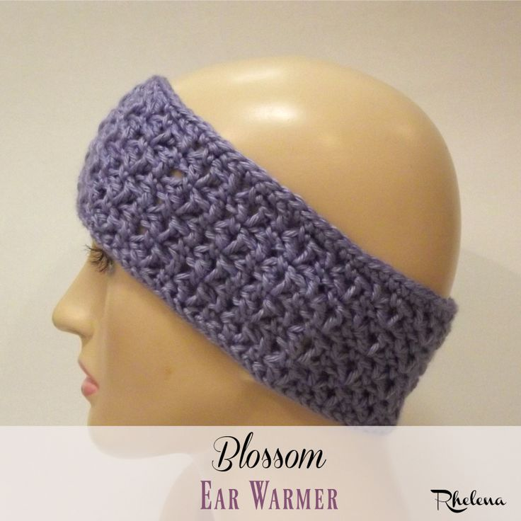 Free crochet pattern for the Blossom Ear Warmer. The pattern is given in one size, but can be adjusted to any size from child to adult.