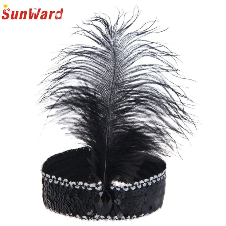 Amazing Women Party Headband Feather Hair Band For Masquerade Party Fancy Dress Costume Hair Accessories #jewelry, #women, #men, #hats, #watches, #belts