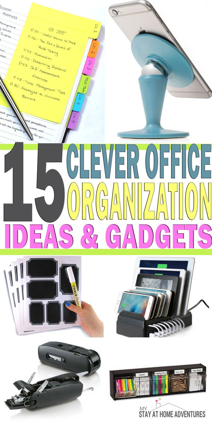 Clever Office Organization Ideas and Gadgets - Finding and coming up with ideas…