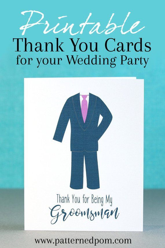 Dress Up Your Groomsman Gift With An Easy To Use Printable Groomsman And Best Man Thank Yo Thank You Cards From Kids Party Invitations Diy Invitations Diy Kids