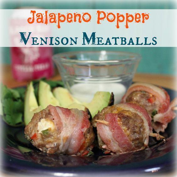 Jalapeno Popper Venison Meatballs | My Wild Kitchen - Your destination for wild recipes