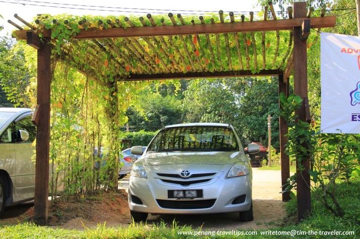 Pergola parking bay at escape adventureplay penang for Vegetable garden pergola