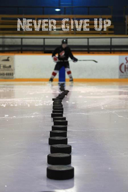 Hockey: Never give up