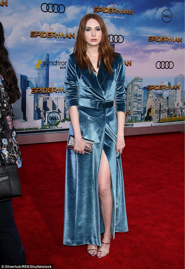 c76a17296f9b Karen Gillan sizzles as she attends Spider-Man  Homecoming premiere ...