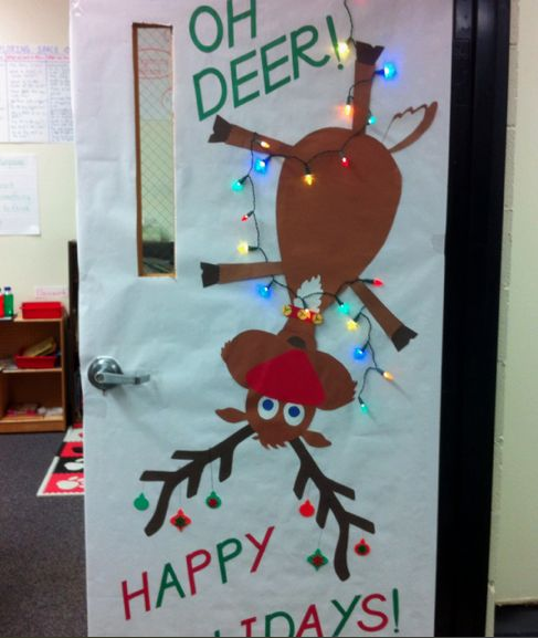 Christmas Decoration Classroom: 67 Best Office Door Contest Images On Pinterest