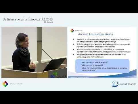 Erja Vitikka: Oppimisen arviointi kehittämisen kohteena - YouTube