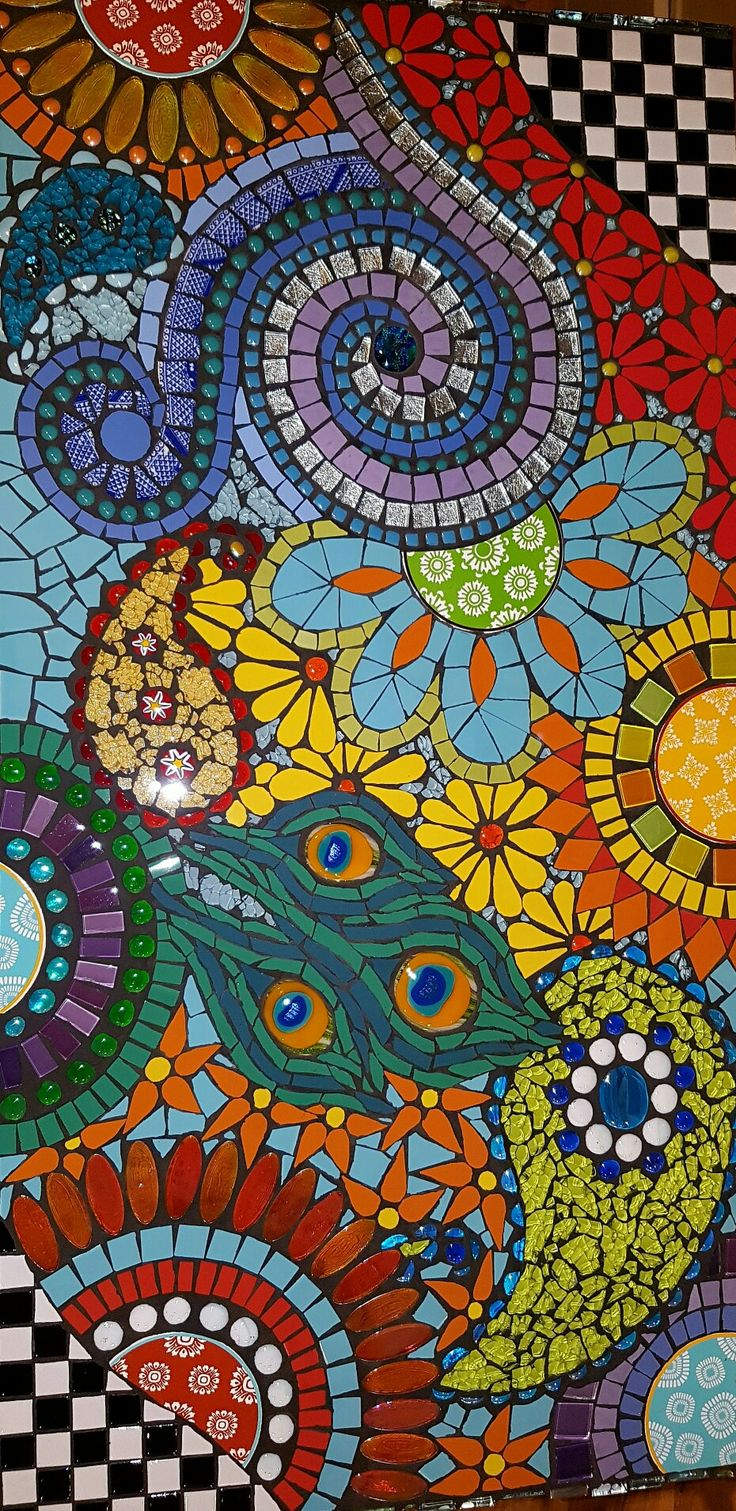 Sold custom made butterfly mosaic table top for mary ann in texas - Grouted Desktop Joolzmosaicartandmore Mosaicsapps