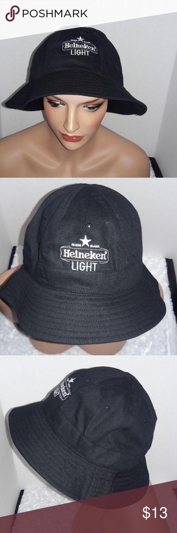 Heineken Bucket Hat Black Heineken Bucket Hat   Color ~ Black with White Embroidery  One size City Hunter USA Accessories Hats