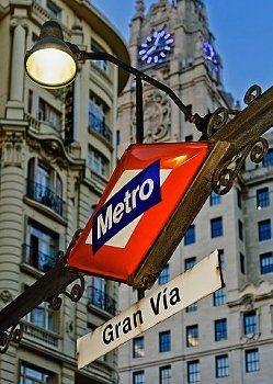 Madrid,  metro Gran Via  Spain