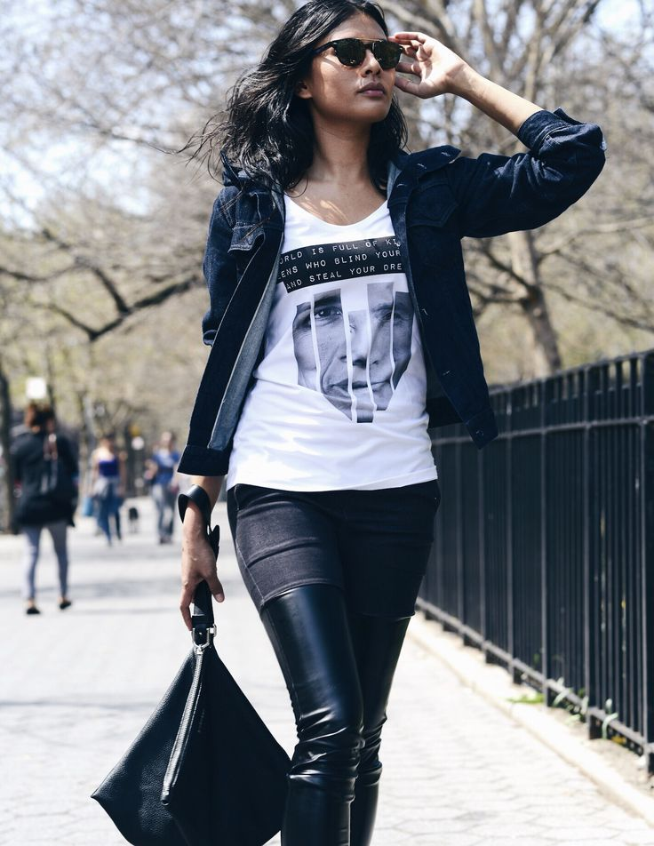 Christabel rocking propaganda long cut t-shirt !BECOME ABIDELESS AT OUR ONLINE STORE! #philosophy #ideabrand #nyc #eastvillage #new #collection #dope #style #clothes #notforeveryone
