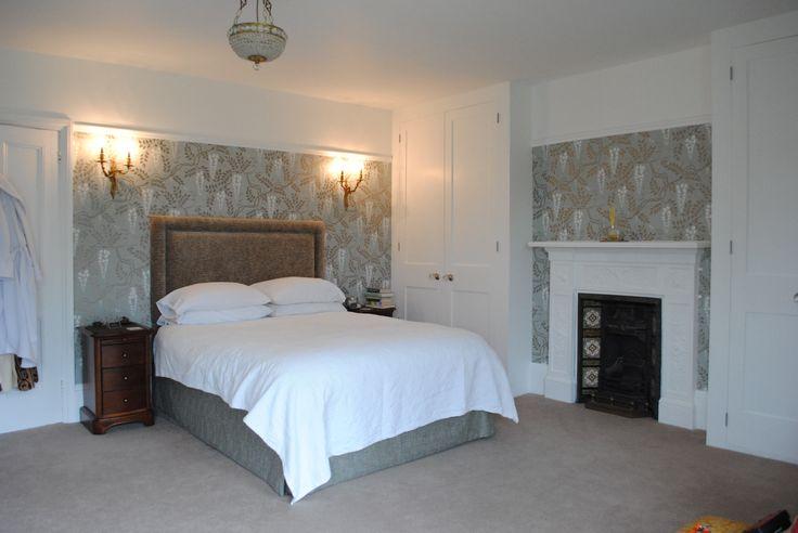 Tunbridge Wells Master Bedroom with Cole & Son Egerton Duck Egg wallpaper