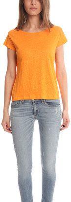 Acne Copy Linen T-shirt - Shop for women's T-shirt - Orange T-shirt