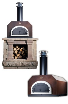 The Mario Batali Etan counter-top pizza oven looks great on a custom built base in your backyard.