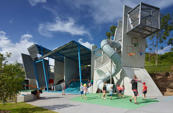 Frew Park Arena Play Structure by Guymer Bailey Architects