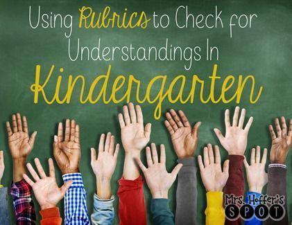 Rubrics in kindergarten