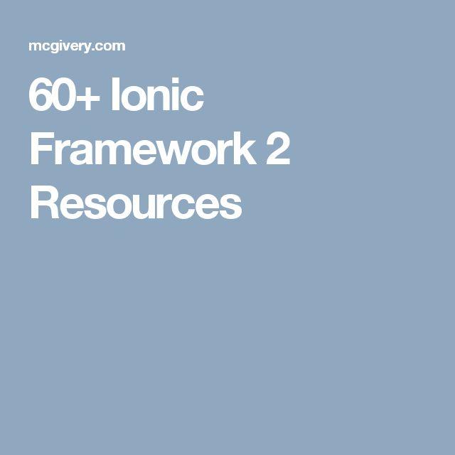 60+ Ionic Framework 2 Resources