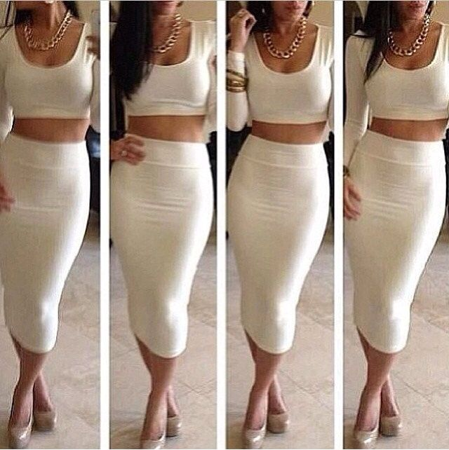 17 Best images about Crop Top & Midi Skirts on Pinterest | High ...