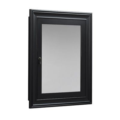 Fresh Wood Framed Recessed Medicine Cabinet