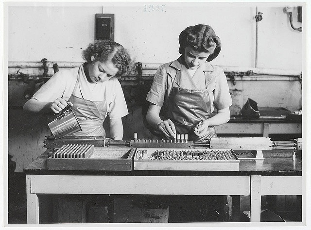 Lipstick production at Colgate-Palmolive, Australia, c. 1940s New South Wales, Australia.