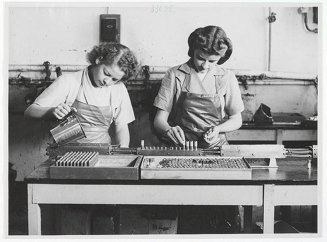 Lipstick production at Colgate-Palmolive, Australia, c. 1940s New South Wales, Australia.