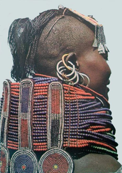 Africa | Turkana girl.  Kenya || Scanned postcard