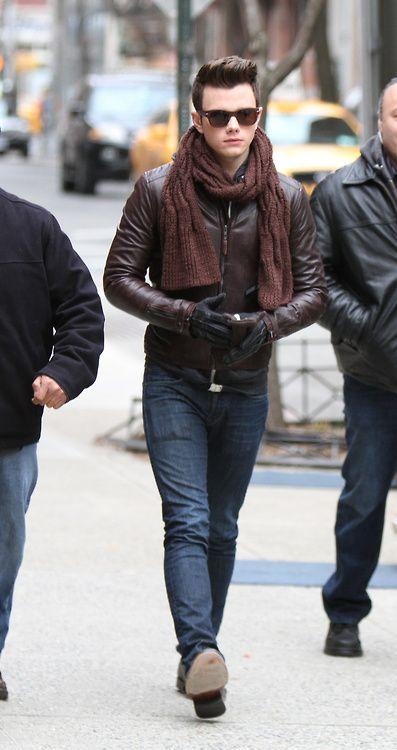 Chris Colfer in New York