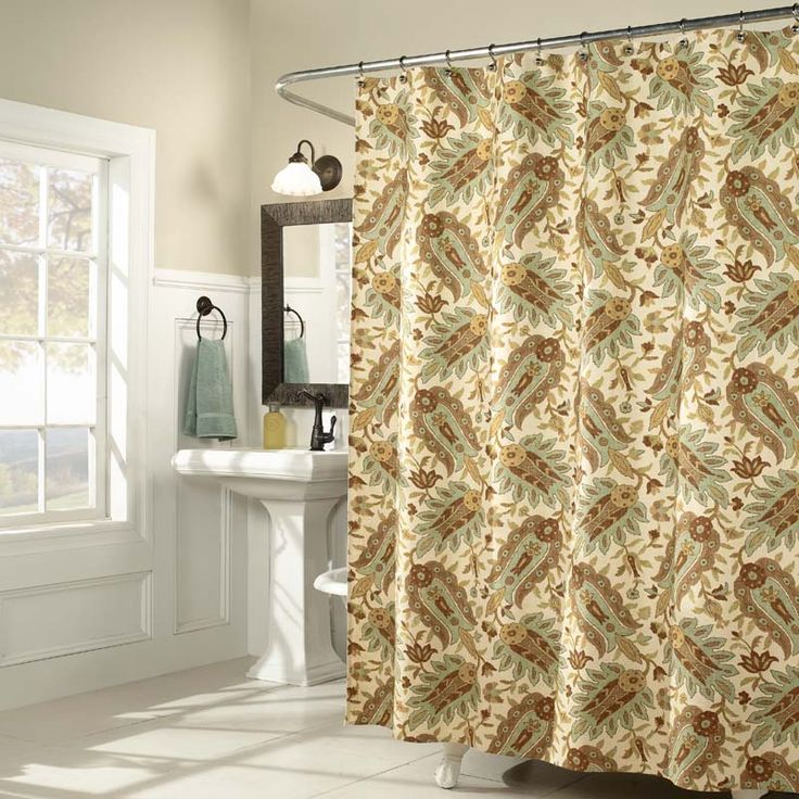 31 best shower curtains images on Pinterest | Fabric shower ...