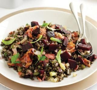 Bacon, beetroot and green lentil salad   Australian Healthy Food Guide