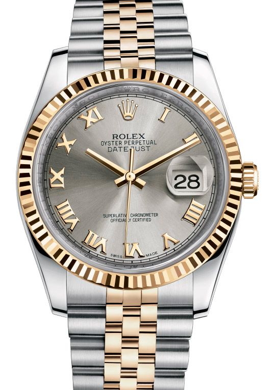 Rolex 116233 grj Datejust Steel and Yellow Gold. #rolex