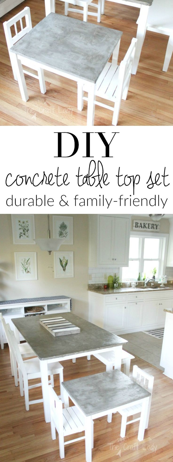 Follow this step-by-step tutorial to make a DIY concrete table top that is…