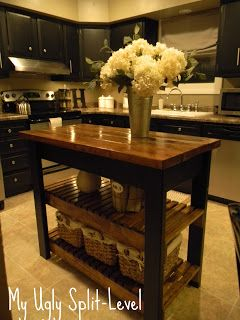 My Ugly Split-level. Awesome tutorial on building a kitchen island